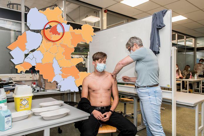 De coronakaart van Oost-Nederland op donderdag 5 augustus.