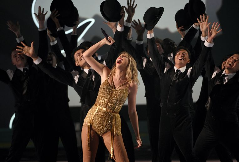 De Amerikaanse zangeres Taylor Swift is een van de paradepaardjes in de stal van platenmaatschappij Universal Music Group.  Beeld Chris Pizzello/Invision/AP
