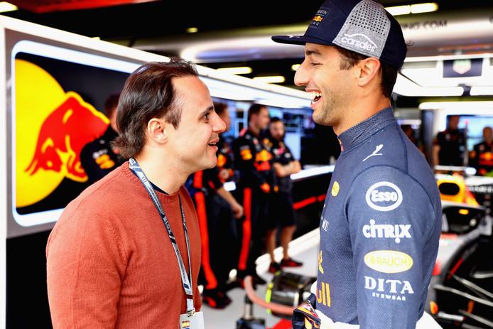 Felipe Massa (l) en Daniel Ricciardo