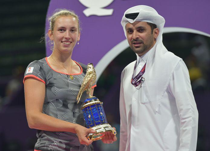 Elise Mertens won het WTA-toernooi in Doha.