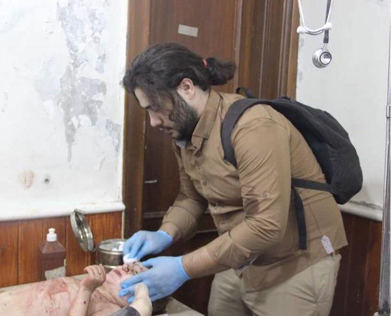 'Al die bommen vallen op onschuldige burgers.' Beeld Hozaifa Dahmaan