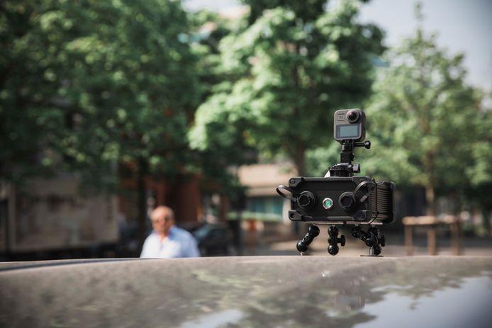 Stad Hasselt inventariseert laanbomen met mobiele camera.