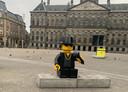 De Lego-versie van André Hazes op de Dam.