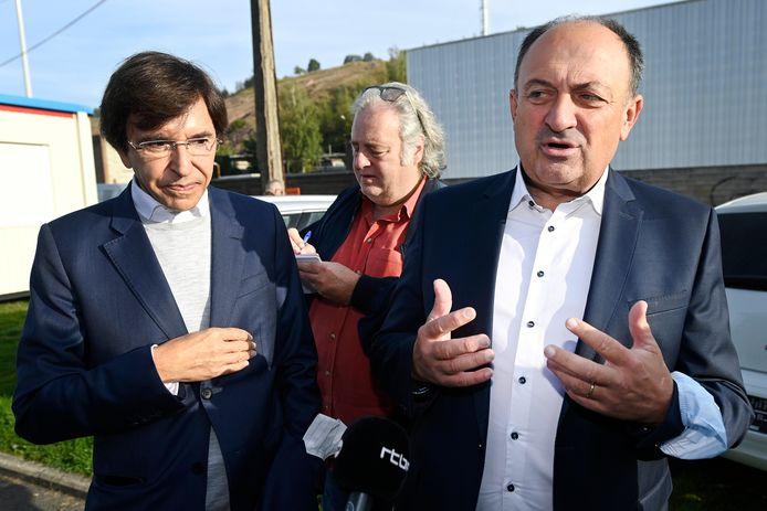 Le Ministre-Président Elio Di Rupo et du Ministre Willy Borsus.
