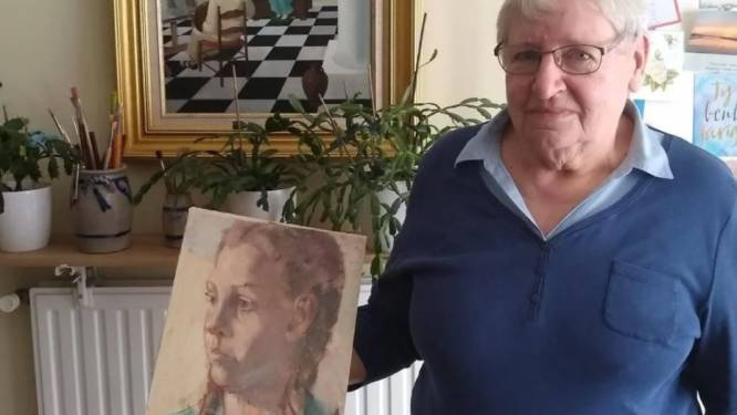 Oproep: Wie kent het meisje op portret van Kastelse schilder André Van den Sande?
