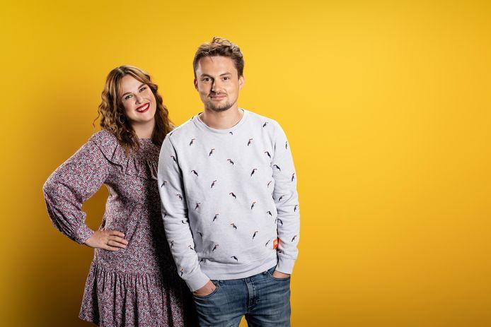 Dorothee Dauwe en Maarten Vancoillie presenteren op Qmusic