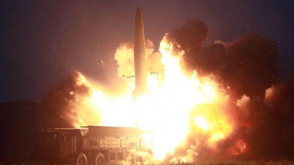 Een rakettest in Noord-Korea. Archieffoto.