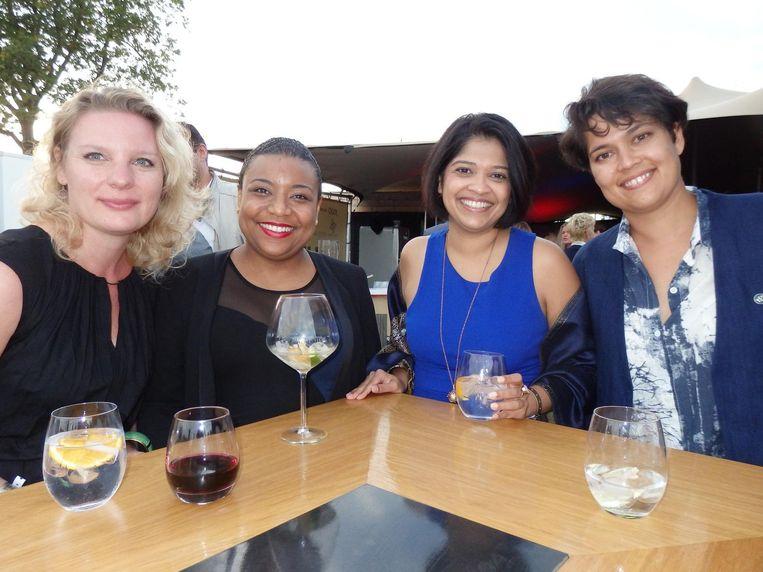 Arts Aukje, nucleair apotheker Claire Sabajo, arts Rekha Mungra en winnaar Schuim Award Vrolijkste Naam 2015-2016, huisarts Lizel Flinkenflögel (vlnr). Beeld Schuim