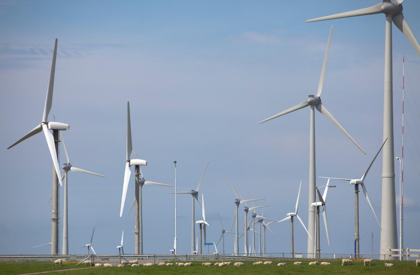 Windmolenpark bij de Eemshaven.