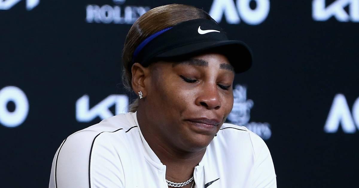 Uitgeschakelde Williams (39) verlaat persconferentie in tranen | Australian Open - AD.nl