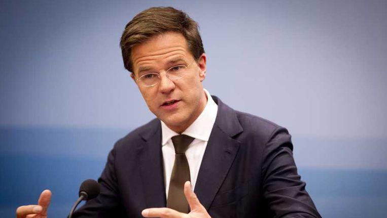 Premier Rutte in Nieuwspoort Beeld anp