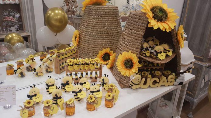 Doopsuiker in het thema bijen