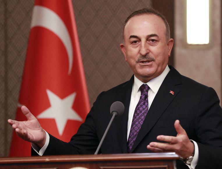 De Turkse buitenlandminister Mevlut Cavusoglu. Beeld AFP