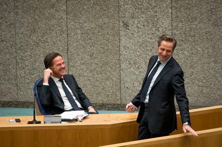 De premier constateerde donderdag dat er brede steun is voor het coronabeleid van het kabinet.  Beeld Freek van den Bergh / de Volkskrant