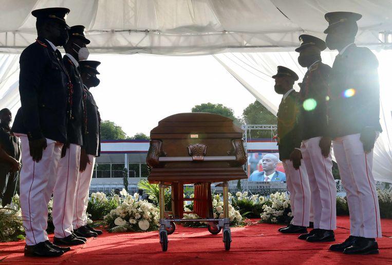 Jovenel Moïse werd op 23 juli begraven. Beeld AFP