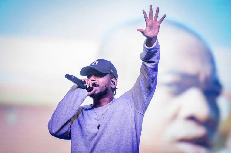 Kendrick Lamar sierde de Alpha tent op de laatste dag van Lowlands 2015 Beeld ANP