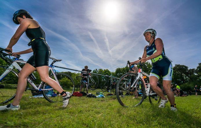Fraaie omstandigheden bij triatlon in Markelo
