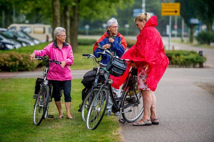 Het is niet altijd mooi weer tijdens de Drunense Fietsvierdaagse. Dit jaar is er vanwege corona geen georganiseerde tocht, maar kunnen fietsliefhebbers de routes op eigen houtje afleggen.