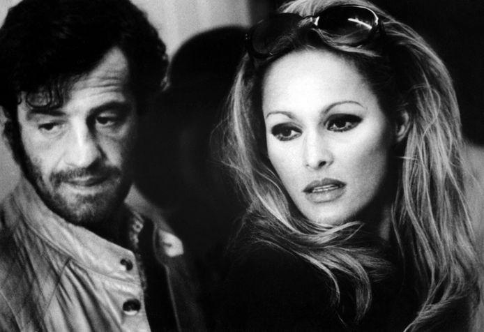 Belmondo en Ursula Andress in 1970.