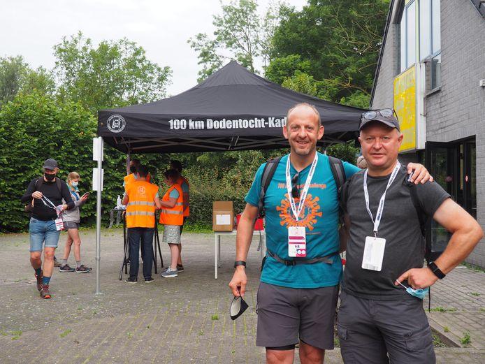 Zaterdagochtend ging de eerste editie van Dodentocht Light van start. Dirk Deweerdt en Frederik Van Lierde