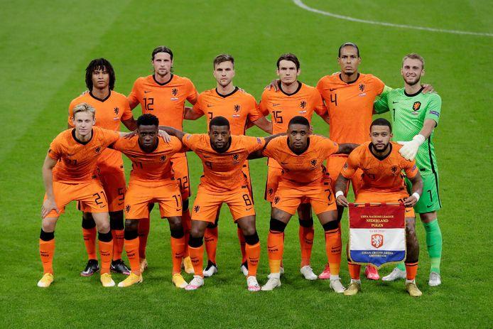 De basiself van Oranje vanavond tegen Polen.
