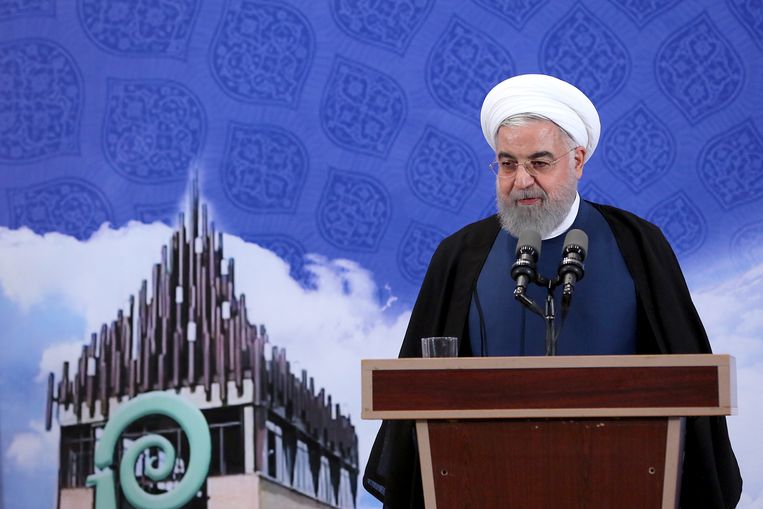 De Iraanse president Hassan Rouhani maakte de ontdekking openbaar.