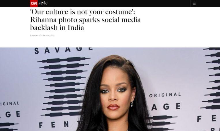 Rihanna haalde woede op haar hals Beeld