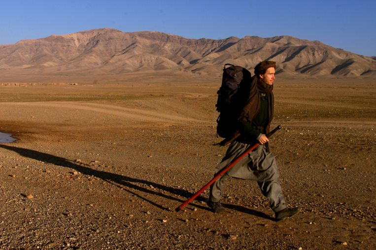 Rory Stewart op trektocht door Afghanistan. Beeld LA Times via Getty Images