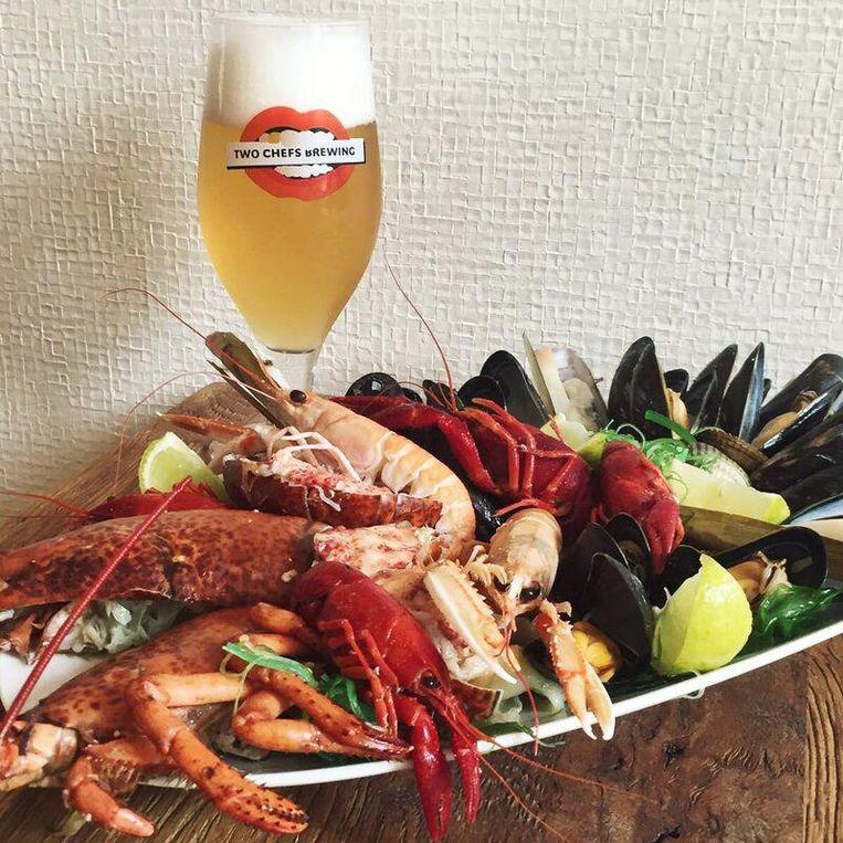 Restaurant Thijs by Dikker en Thijs vindt het hoog tijd voor zeevruchten met bier. Beeld Dikker & Thijs