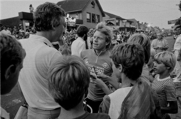 Peter Winnen, winnaar van de allereerste Nacht van Zeilberg (1981), een thuiswedstrijd in feite voor hem.