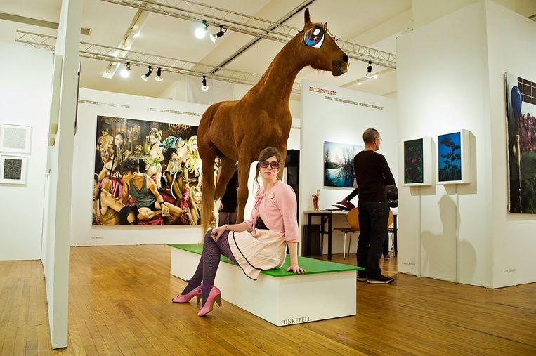 Kunstenaar Katinka Simonse, alias Tinkebell, is een van de initiatiefnemers van de petitie. Beeld