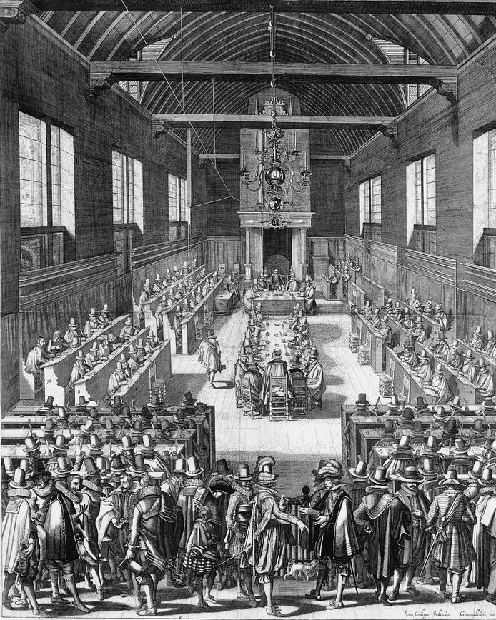 De Synode van Dordrecht in 1619.