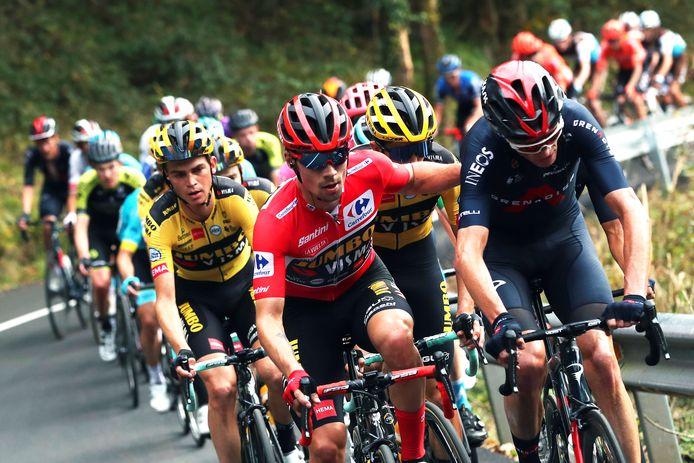 Renners onderweg  in de Ronde van Spanje van 2020