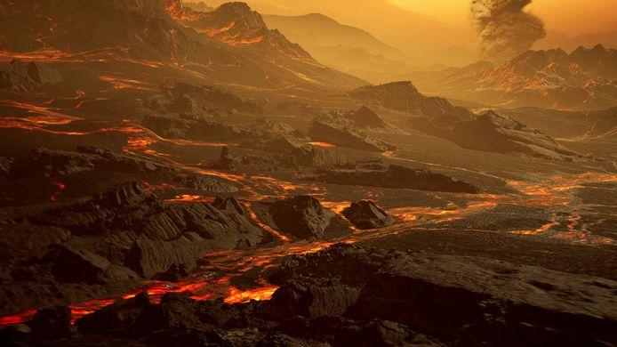 La proximité de Gliese 486 b avec son étoile la rend très chaude (au moins 430°C). Elle est parsemée de volcans et de rivières de lave.
