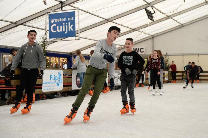 De schaatsbaan in Cuijk.