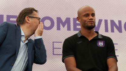 """Kijk LIVE naar de voorstelling van Vincent Kompany als speler-manager van Anderlecht, Coucke: """"Belfius wordt partner van onze jeugdwerking"""""""