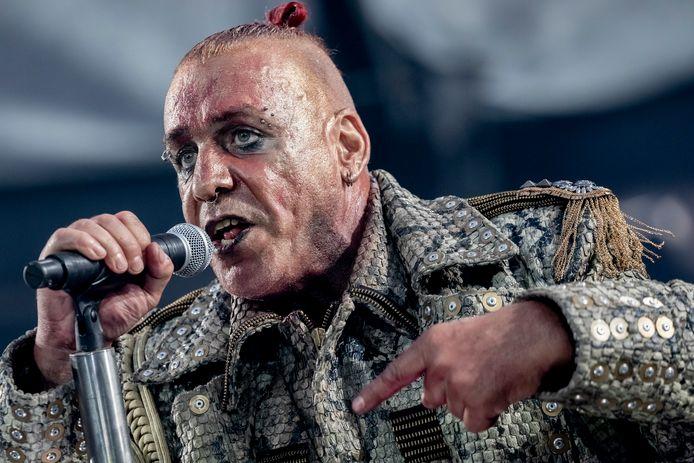 Till Lindemann, de frontman van de Duitse band Rammstein.