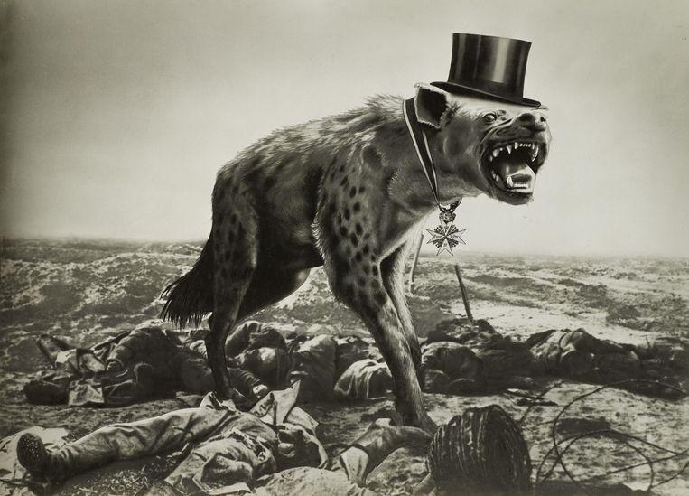 Oorlog en lijken – De laatste hoop van de rijken, 1932.   Beeld AdK Berlin,  The Heartfield Co