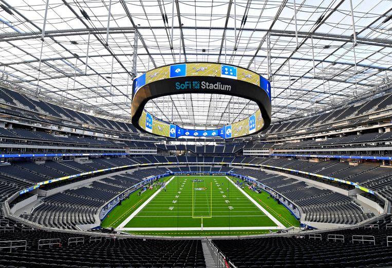 Het SoFi stadium in Inglewood, California.  Beeld Getty Images