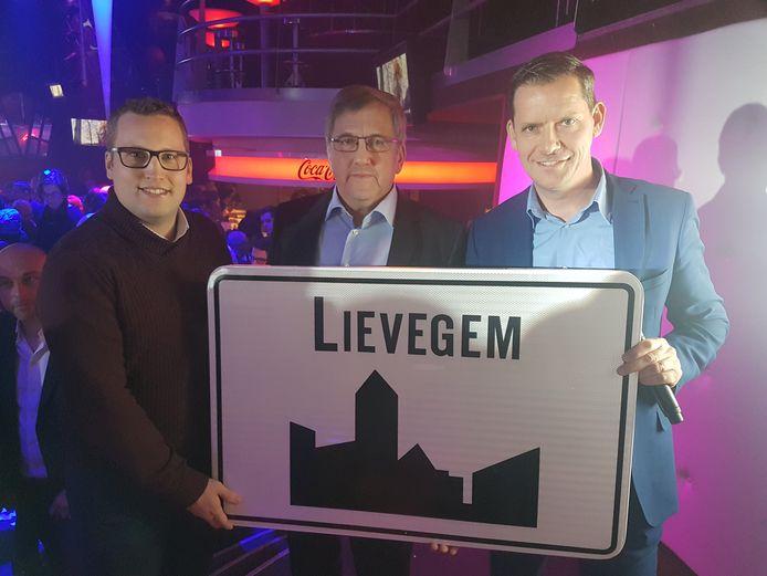 Een archiefbeeld van de lancering van de naam Lievegem.