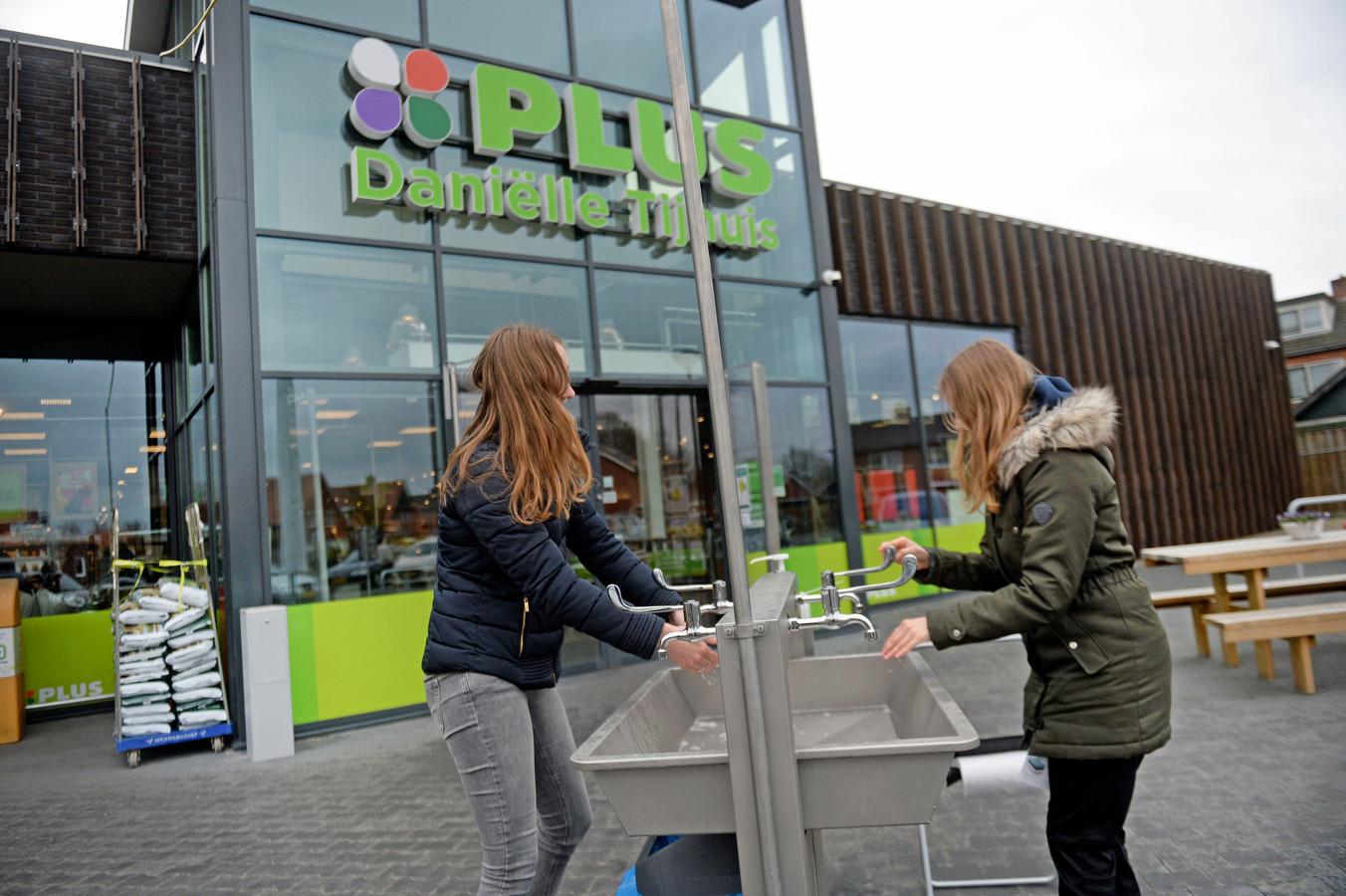 Speciale wasstraat gebouwd voor klanten van de Plus in Weeselo.