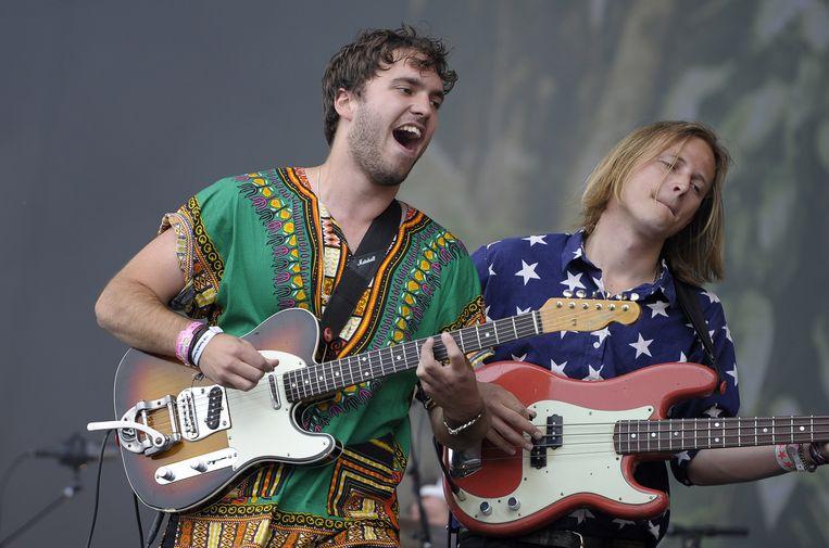 Zanger Cas Hieltjes tijdens het optreden van Go Back To The Zoo. Beeld ANP Kippa