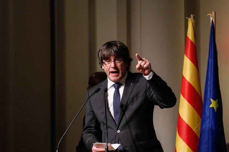 Carles Puigdemont. Beeld Photo News