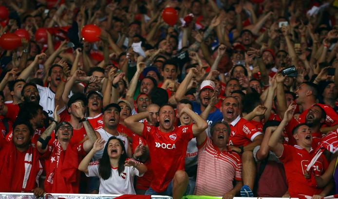 Fans van Independiente.