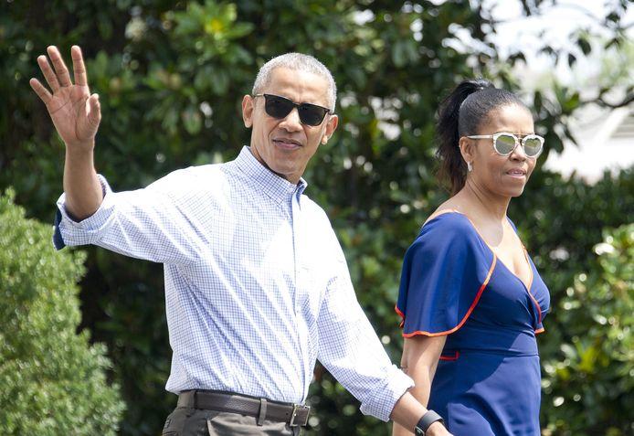 Barack Obama en Michelle Obama.