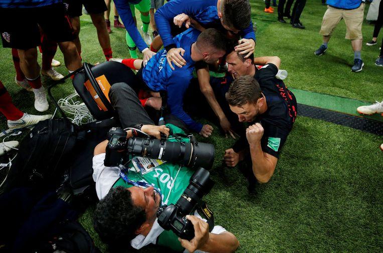 Vreugde bij de Kroaten. Beeld Photo News