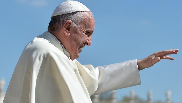Paus Franciscus moet de progressieven gunstig stemmen zonder de conservatieven al te zeer tegen de haren in te strijken. Beeld © AFP