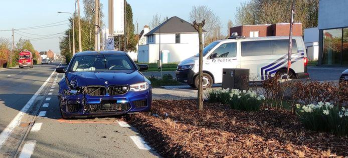 De Rijksweg politie zakte af naar de Rijksweg in Kuurne.