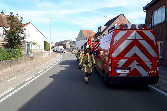 De omgeving van 'Den Brabander' langs de Elenestraat in Zottegem werd een tijdlang geëvacueerd omwille van een gaslek.