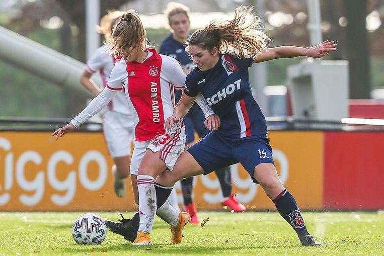 De vrouwen van Ajax versloegen VV Alkmaar. Beeld Pro Shots / Remko Kool